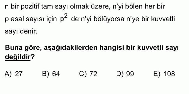 LYS Matematik Soruları 10. Soru