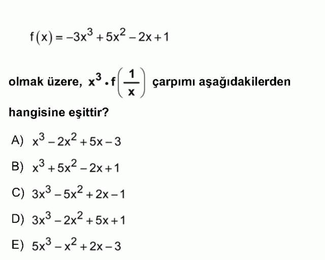 LYS Matematik Soruları 14. Soru