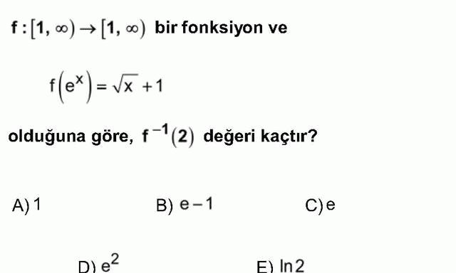 LYS Matematik Soruları 15. Soru