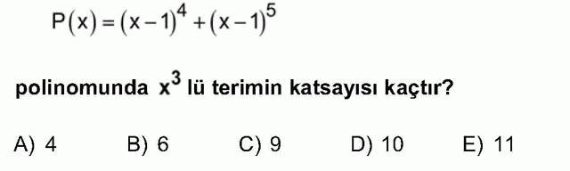 LYS Matematik Soruları 17. Soru