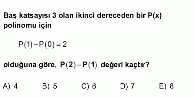LYS Matematik Soruları 19. Soru