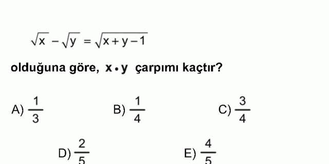 LYS Matematik Soruları 2. Soru