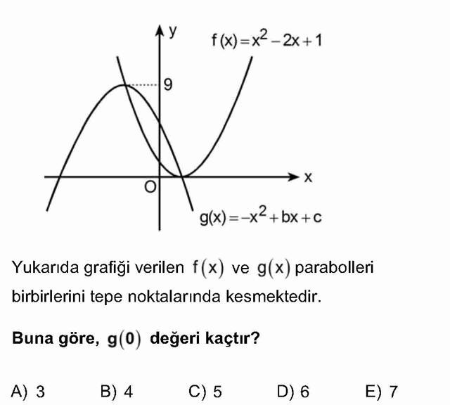 LYS Matematik Soruları 21. Soru