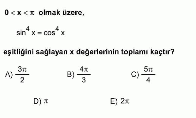 LYS Matematik Soruları 23. Soru