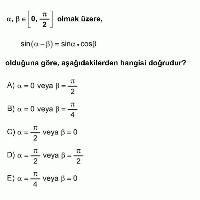 LYS Matematik Soruları 25. Soru