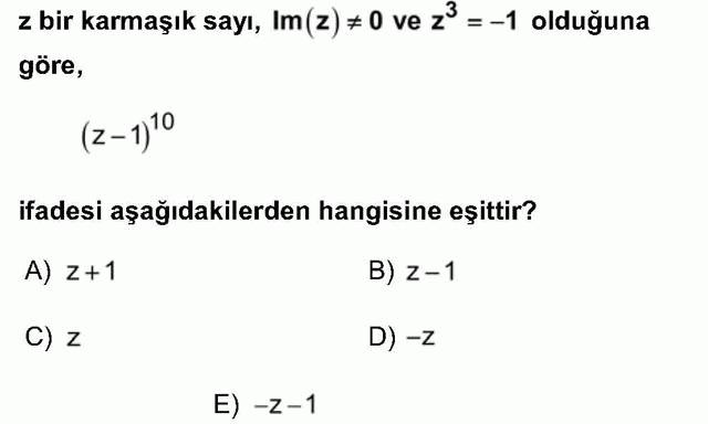 LYS Matematik Soruları 26. Soru