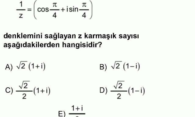 LYS Matematik Soruları 28. Soru