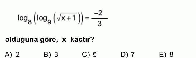 LYS Matematik Soruları 29. Soru