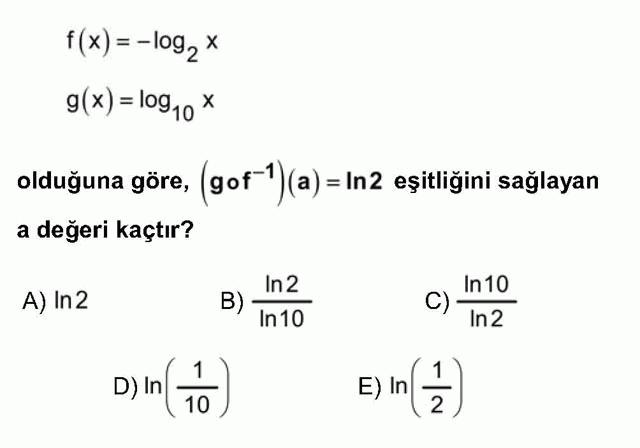 LYS Matematik Soruları 30. Soru