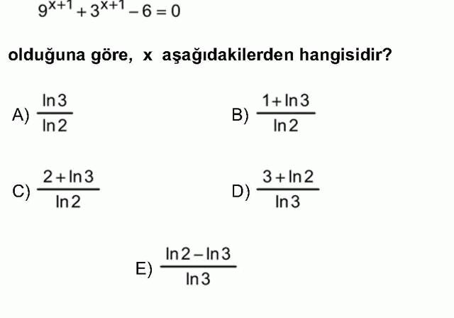 LYS Matematik Soruları 31. Soru