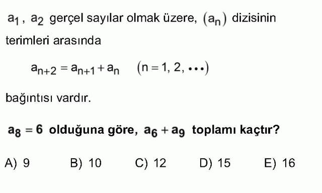 LYS Matematik Soruları 32. Soru