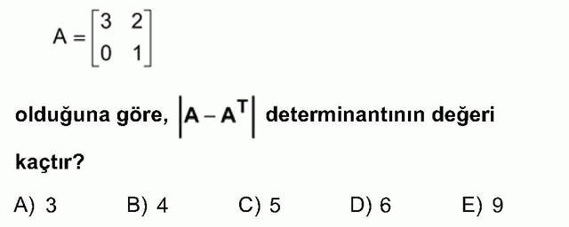 LYS Matematik Soruları 34. Soru