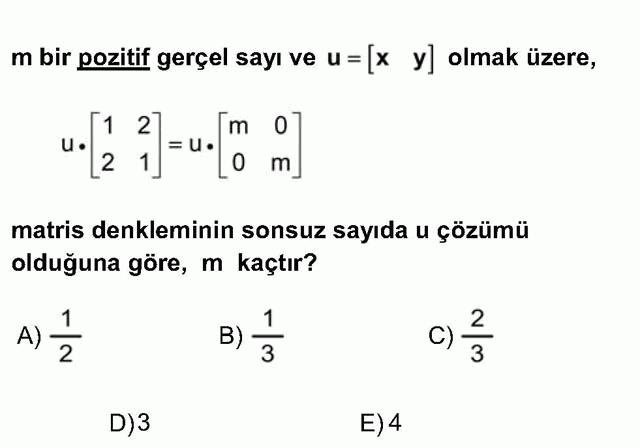 LYS Matematik Soruları 35. Soru