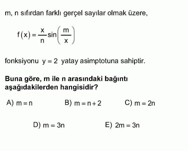 LYS Matematik Soruları 37. Soru