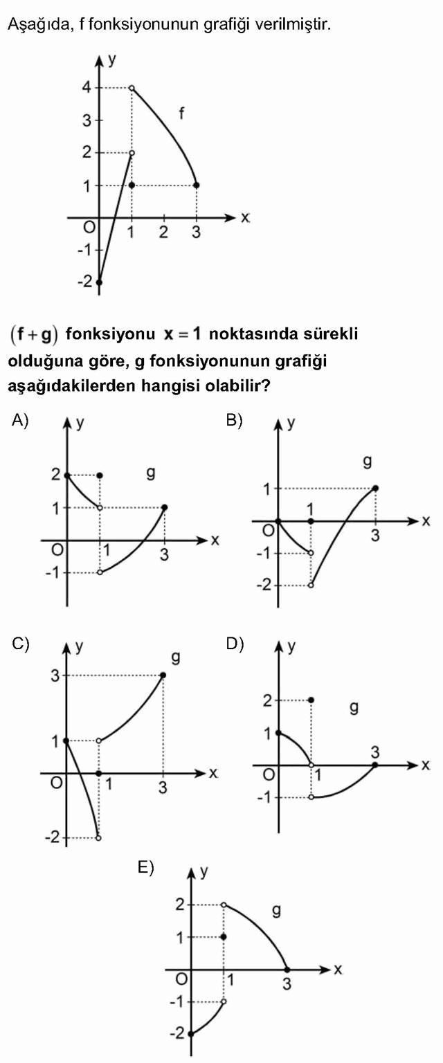 LYS Matematik Soruları 38. Soru