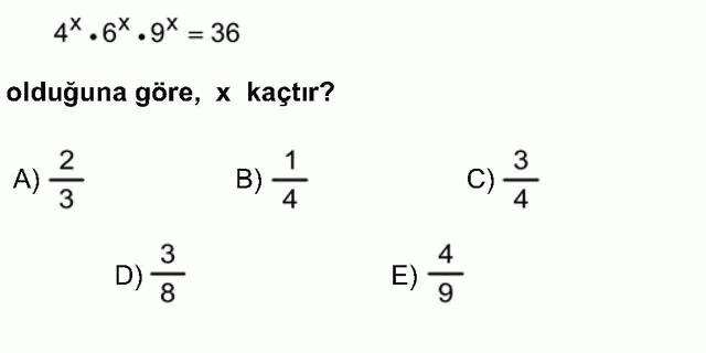 LYS Matematik Soruları 4. Soru