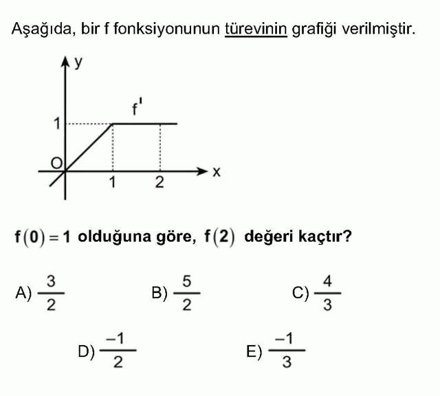 LYS Matematik Soruları 40. Soru