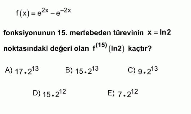 LYS Matematik Soruları 41. Soru