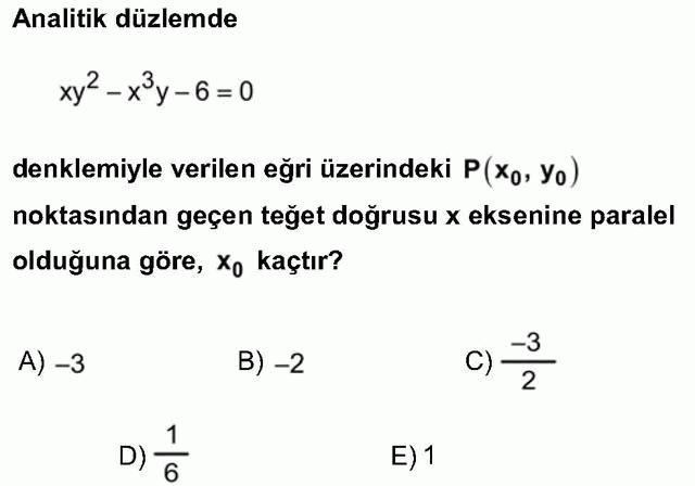 LYS Matematik Soruları 42. Soru