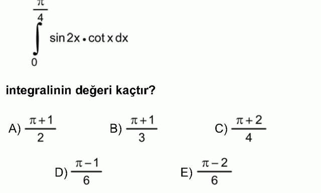 LYS Matematik Soruları 45. Soru