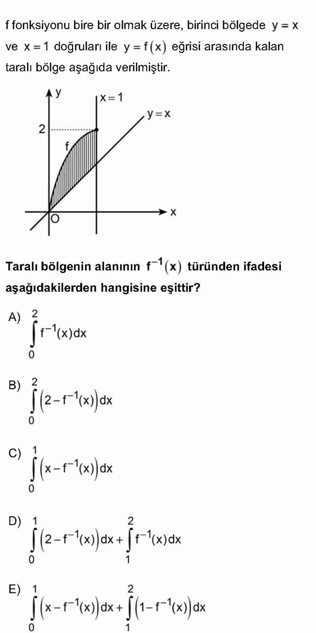 LYS Matematik Soruları 47. Soru