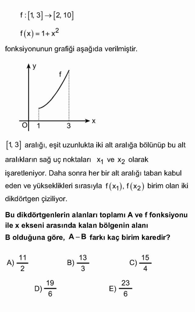 LYS Matematik Soruları 48. Soru