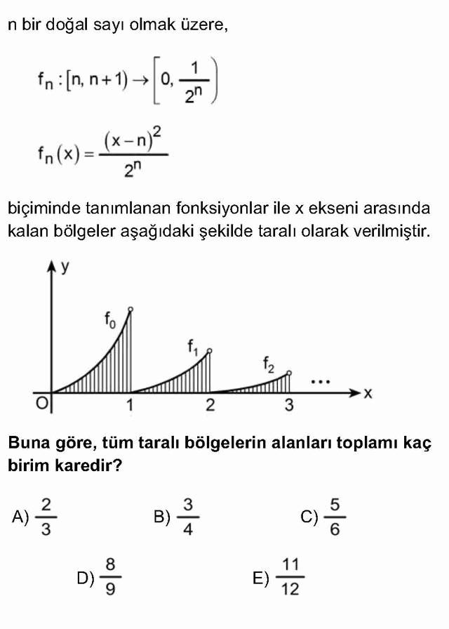 LYS Matematik Soruları 49. Soru