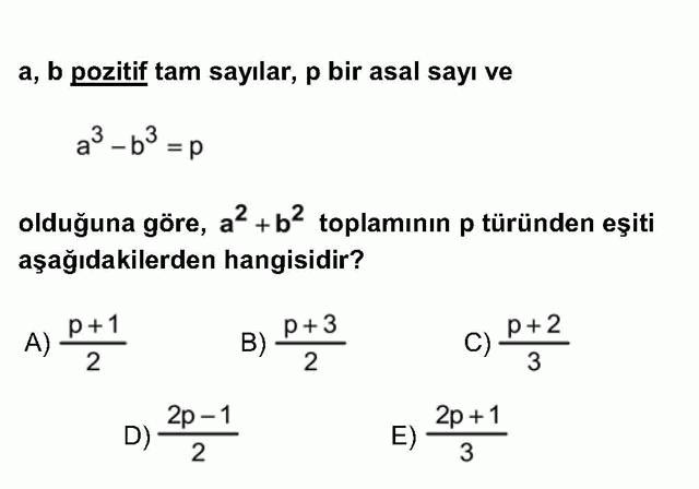 LYS Matematik Soruları 6. Soru