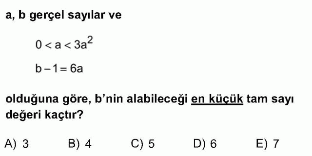 LYS Matematik Soruları 8. Soru