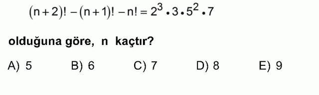 LYS Matematik Soruları 9. Soru