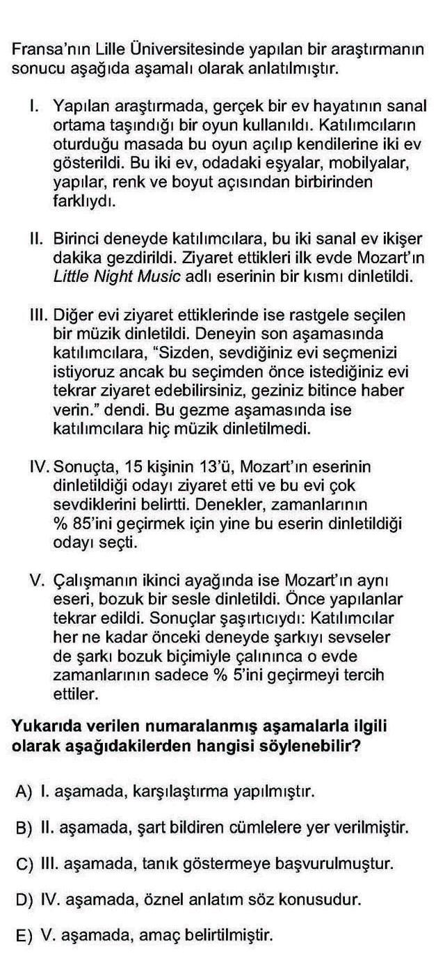LYS Türk Dili ve Edebiyatı Soruları 20. Soru