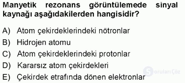 Tıbbi Terminoloji Tek Ders Sınavı 16. Soru