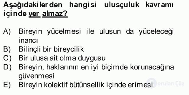 Atatürk İlkeleri ve İnkılap Tarihi II Bahar Final 17. Soru