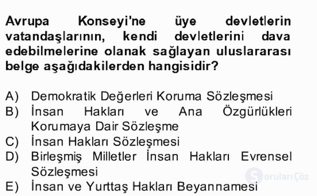 Atatürk İlkeleri ve İnkılap Tarihi II Bahar Final 26. Soru