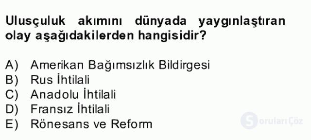 Atatürk İlkeleri ve İnkılap Tarihi II Bahar Final 3. Soru