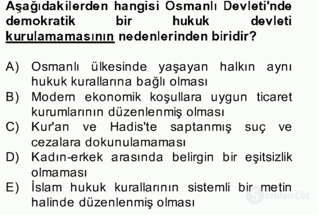 Atatürk İlkeleri ve İnkılap Tarihi II Bahar Final 6. Soru