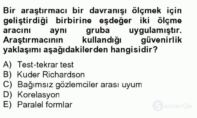 Bilimsel Araştırma Yöntemleri Bahar Final 14. Soru