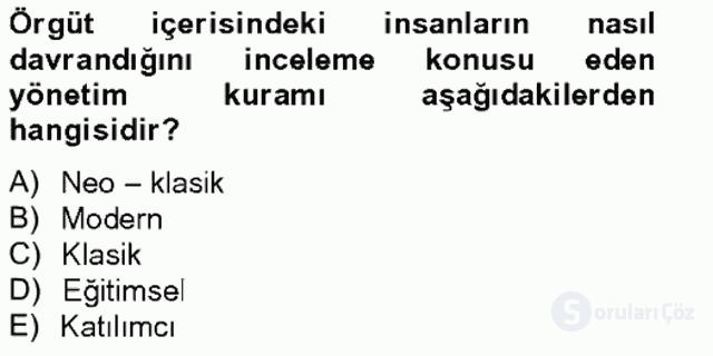 Türk Eğitim Sistemi ve Okul Yönetimi Bahar Final 11. Soru