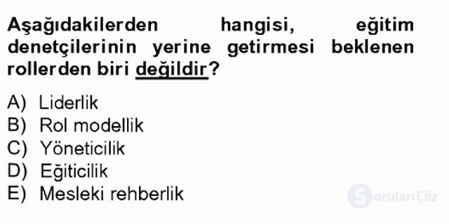 Türk Eğitim Sistemi ve Okul Yönetimi Bahar Final 13. Soru