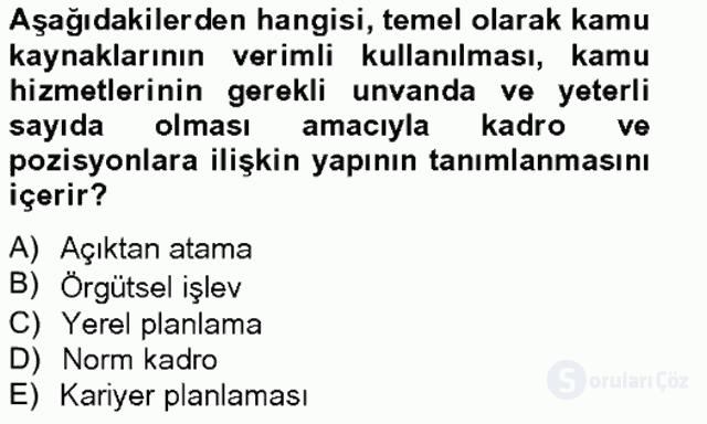 Türk Eğitim Sistemi ve Okul Yönetimi Bahar Final 19. Soru