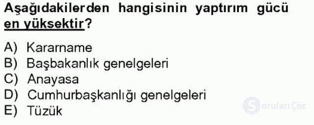 Türk Eğitim Sistemi ve Okul Yönetimi Bahar Final 9. Soru