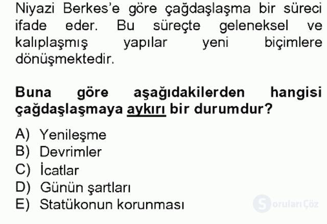 Türk Sosyologları Bahar Dönemi Final Final 4. Soru