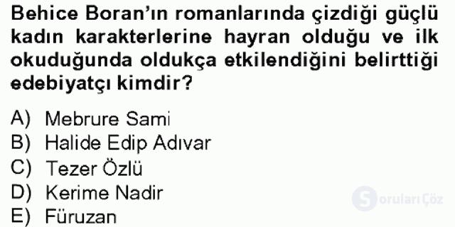 Türk Sosyologları Bahar Dönemi Final Final 6. Soru