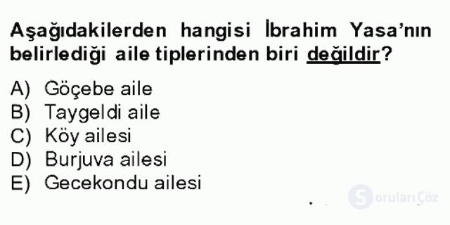 Türk Sosyologları Bahar Dönemi Final Final 8. Soru