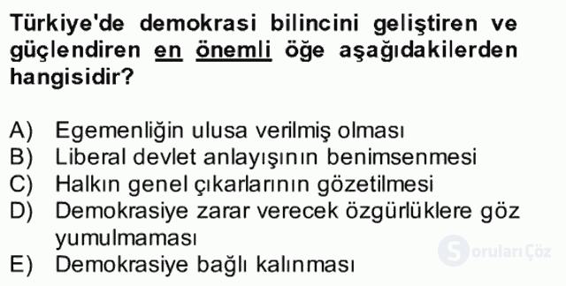 Atatürk İlkeleri ve İnkılap Tarihi II Bütünleme 13. Soru