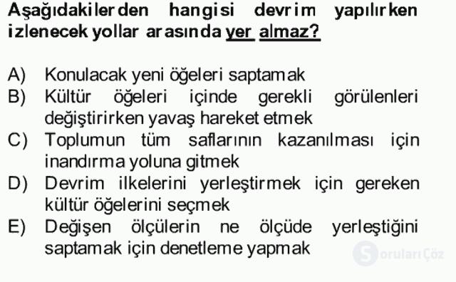 Atatürk İlkeleri ve İnkılap Tarihi II Bütünleme 15. Soru