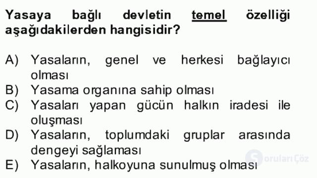 Atatürk İlkeleri ve İnkılap Tarihi II Bütünleme 19. Soru