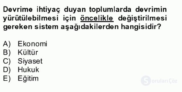 Atatürk İlkeleri ve İnkılap Tarihi II Bütünleme 22. Soru