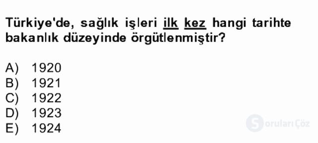 Atatürk İlkeleri ve İnkılap Tarihi II Bütünleme 24. Soru
