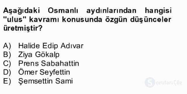 Atatürk İlkeleri ve İnkılap Tarihi II Bütünleme 3. Soru